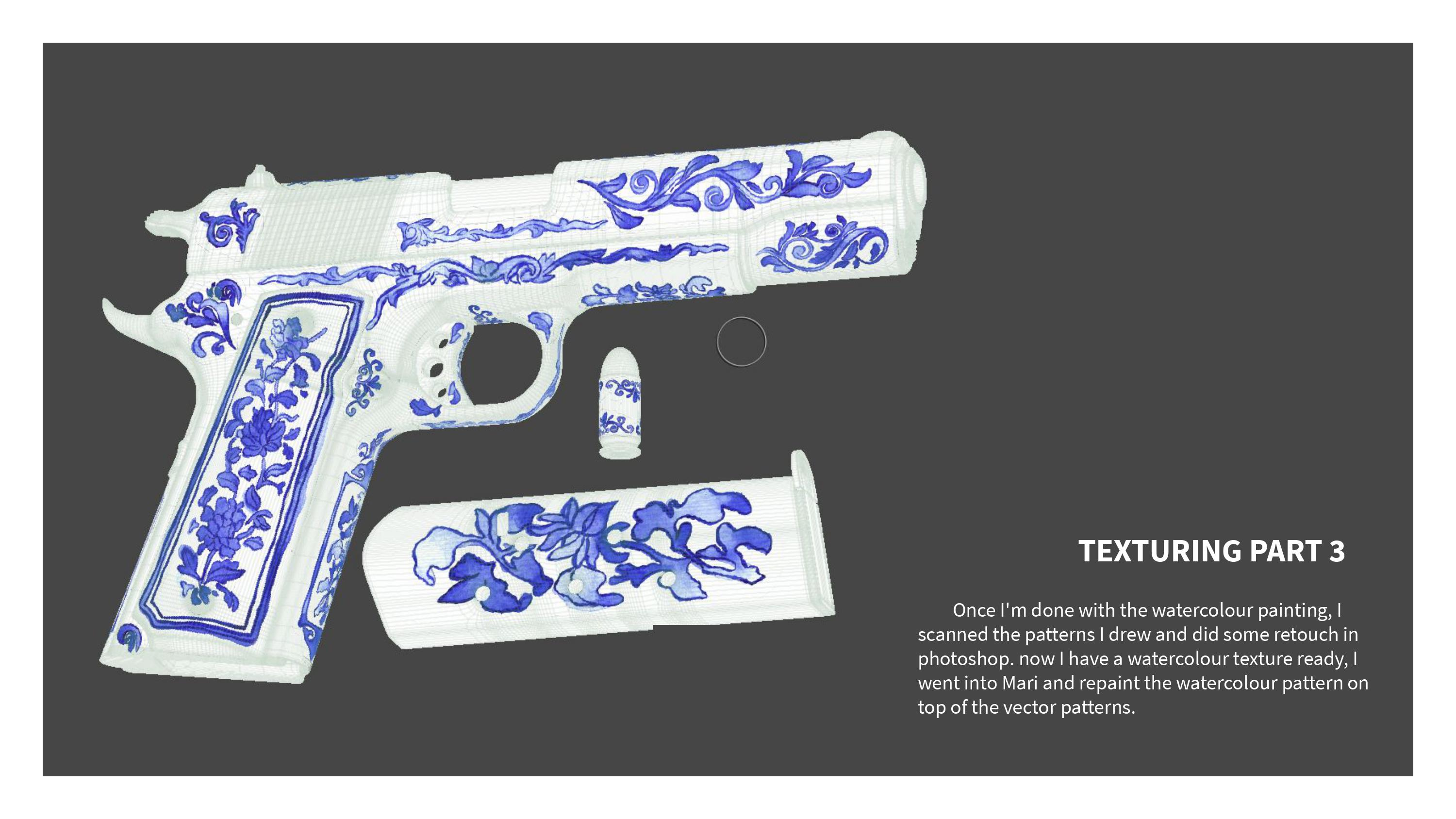 Three D Guns 2 Challenge - Porcelain 1911