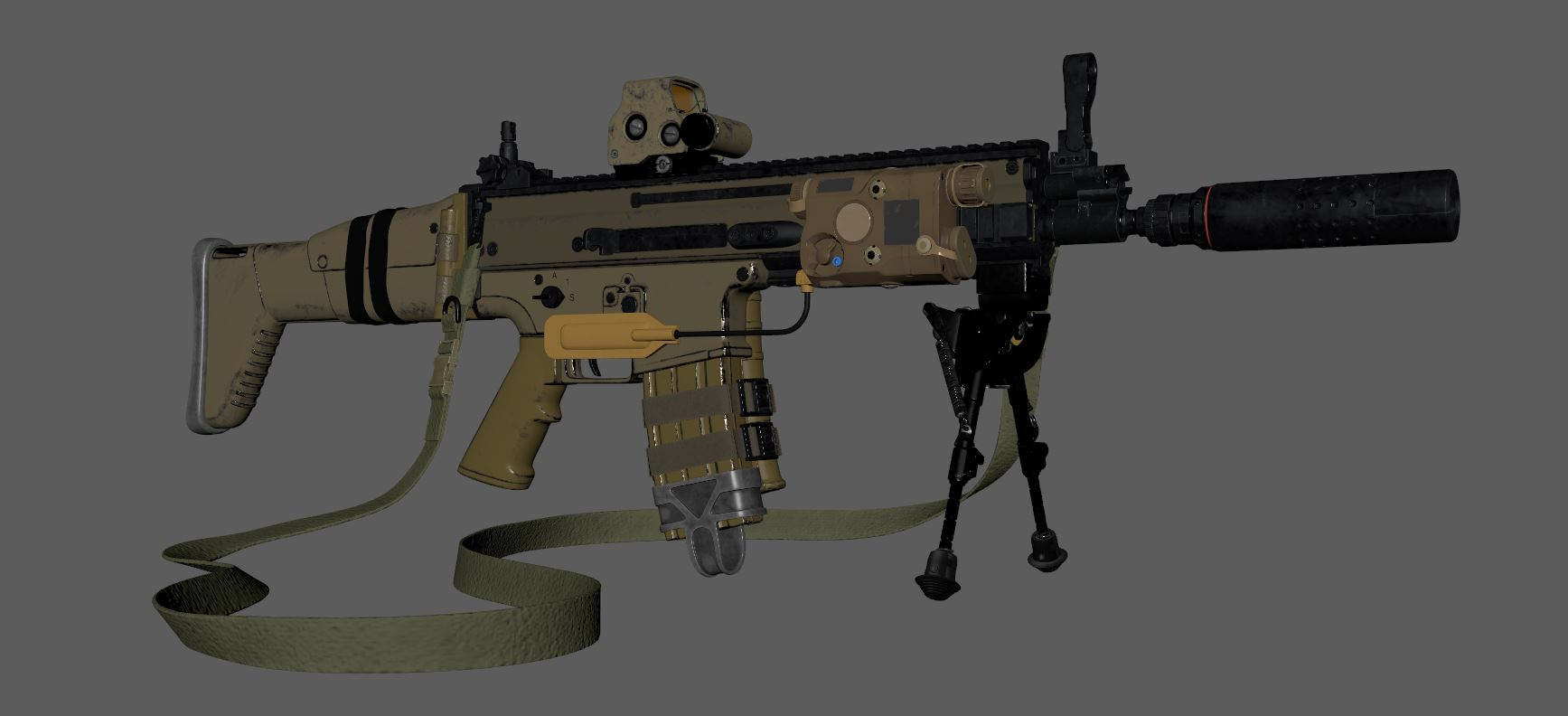 Three D Guns 2 Challenge - Scar-L