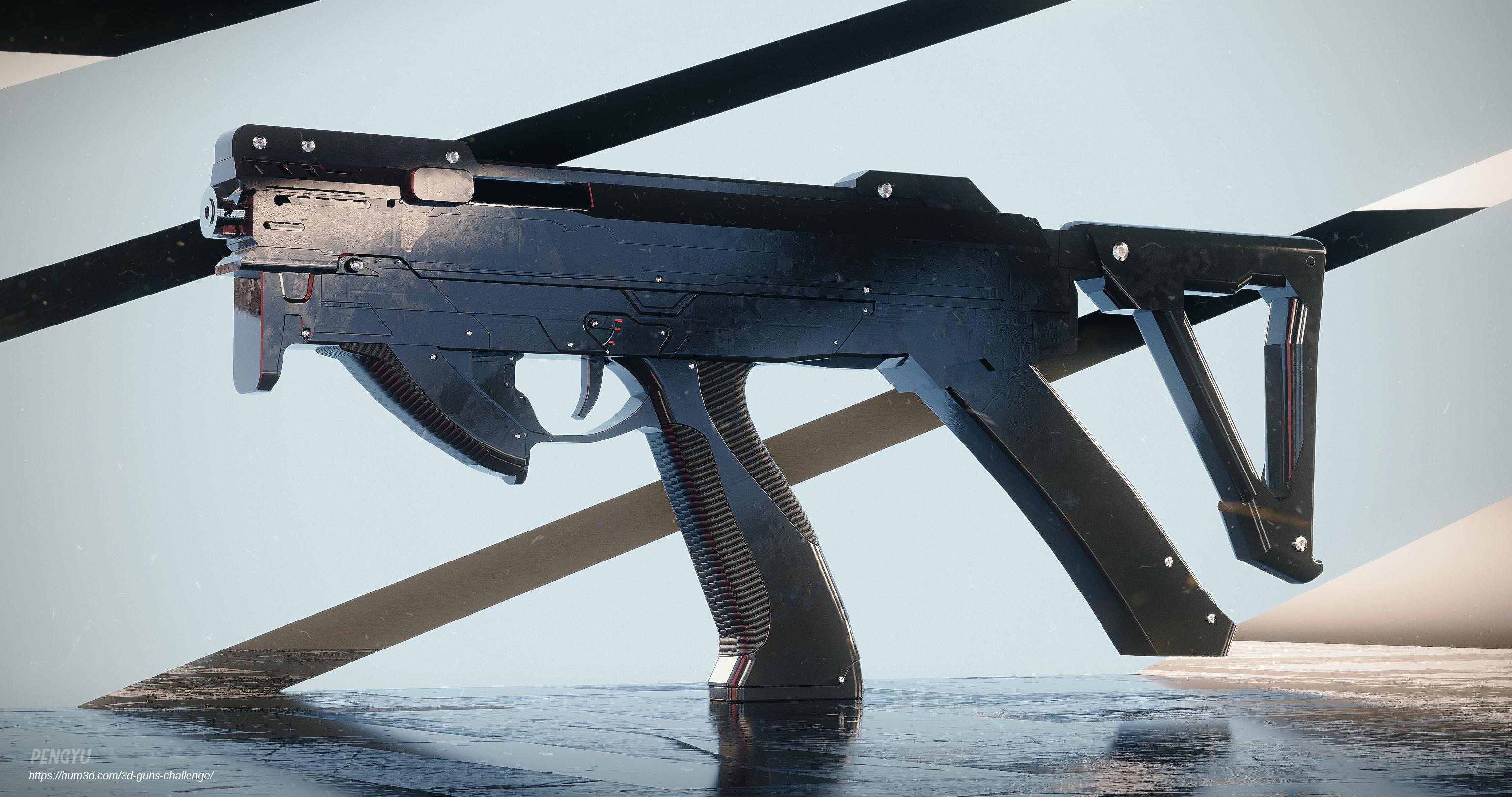 Three D Guns 2_Challenge_PDW model developement