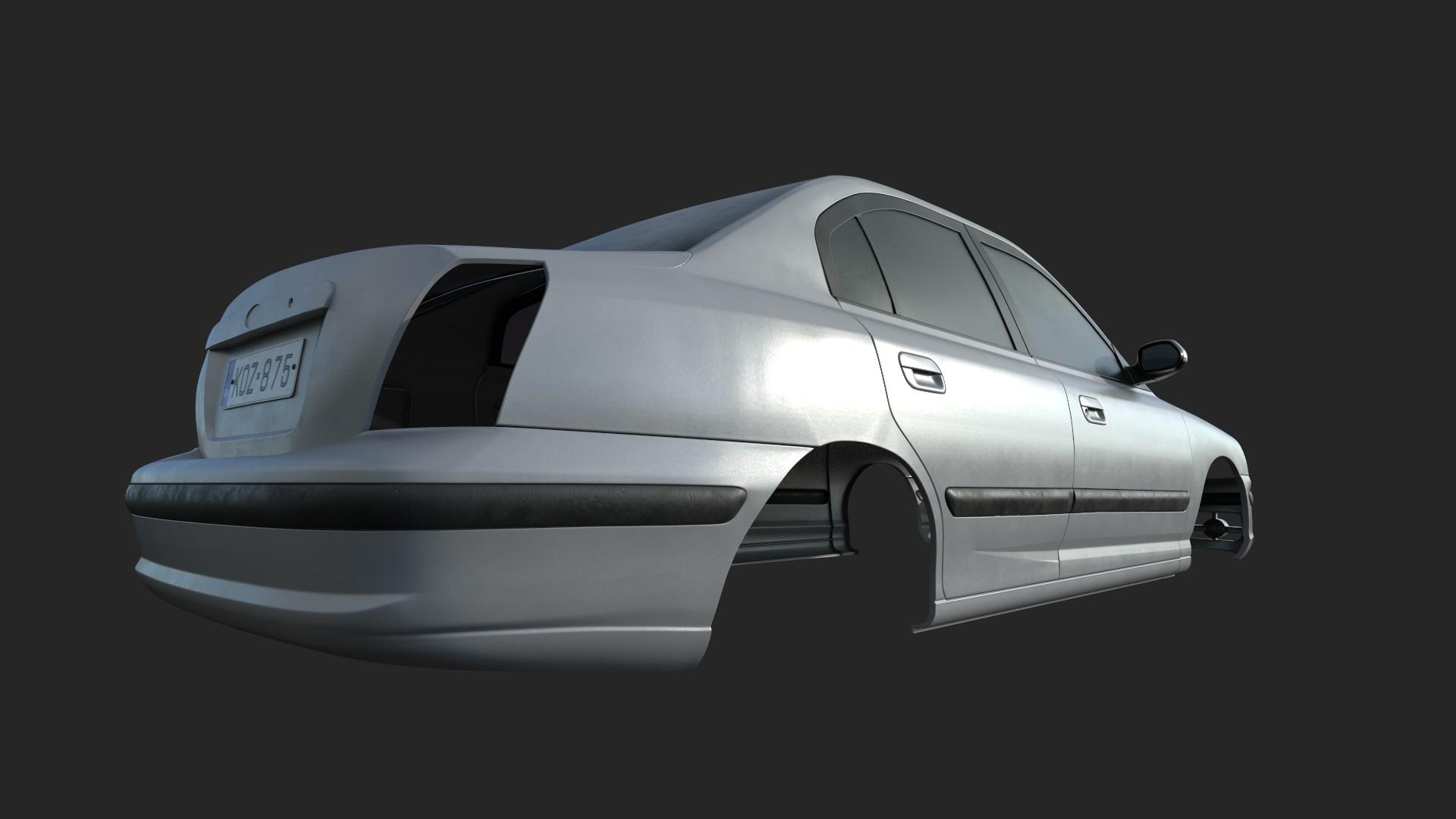 3D car render challenge 2019