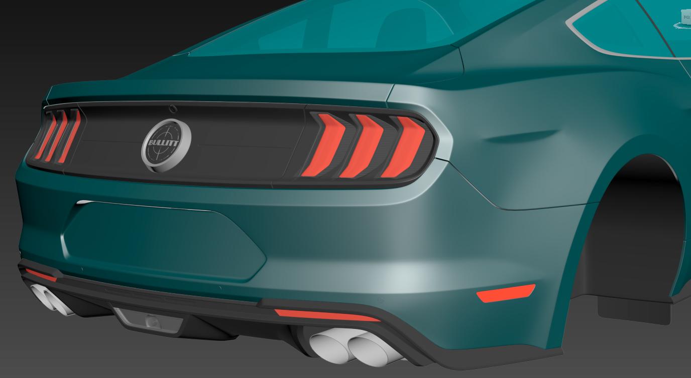 2019 Car Render Challenge - Ford Mustang Bullit 2018