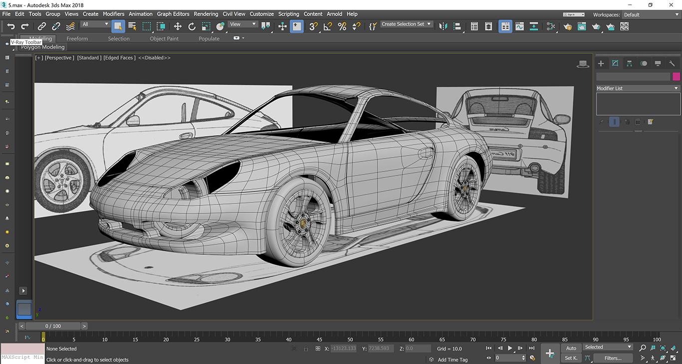 Car Render Challenge 2019 - Porsche-911-carrera