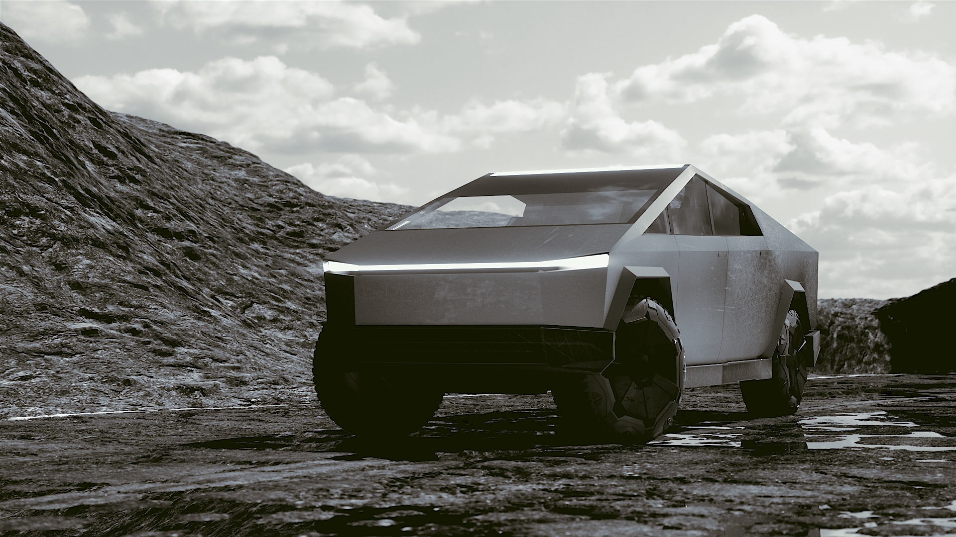 Car Render Challenge 2019 _ TESLA CyberTruck by RoBot_