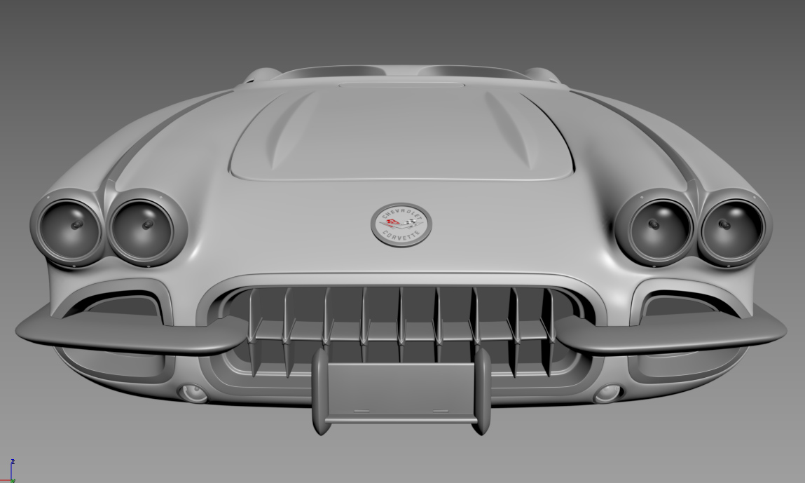2019 Car Render Challenge: chevrolet corvette 1960