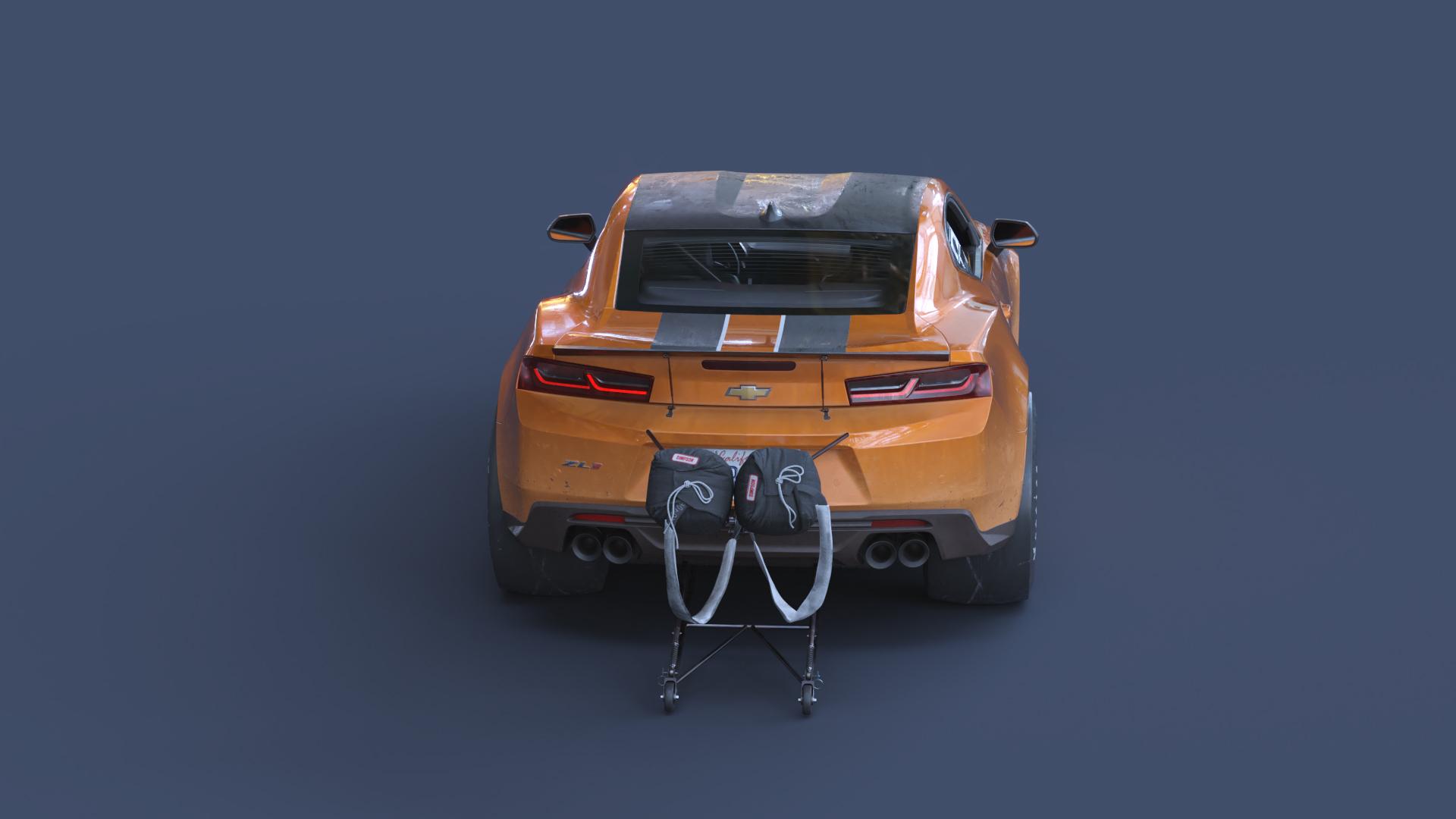 Drag racing Camaro - Car Render Challenge 2019