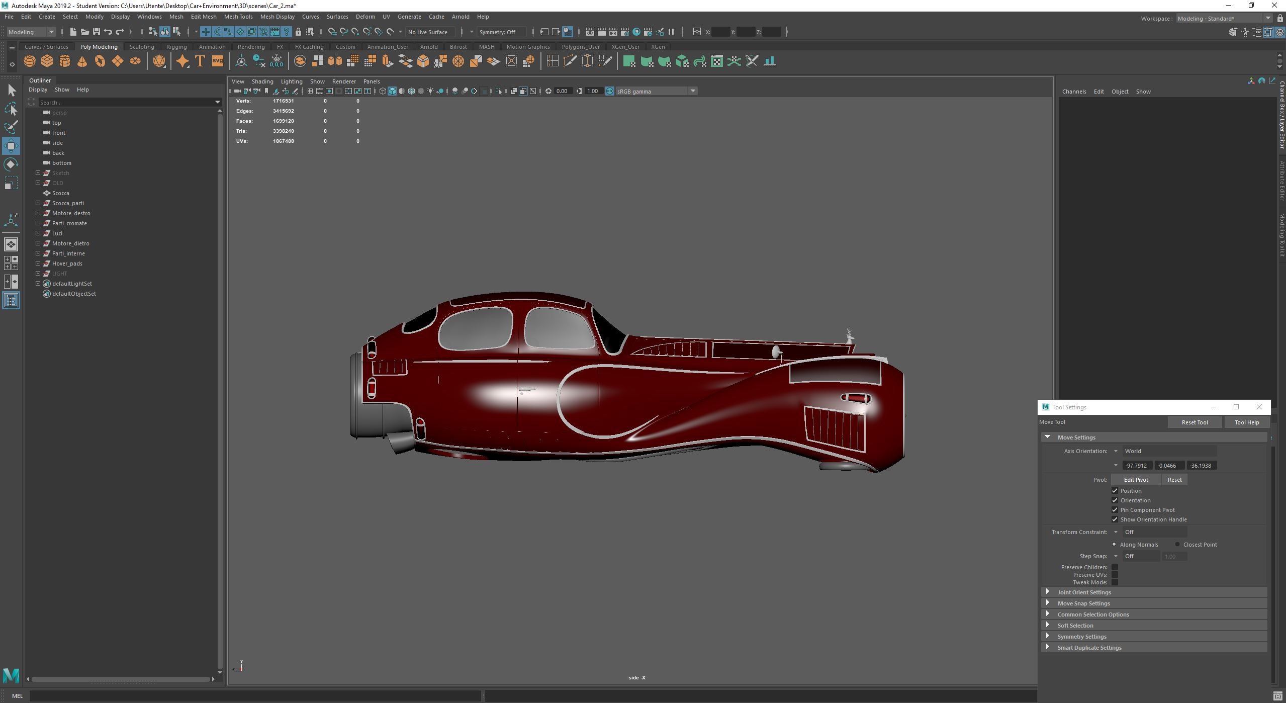 Car render challenge 2019