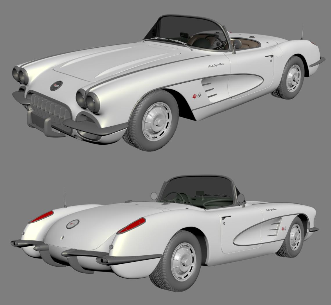 2019 Car Render Challenge: chevrolet corvette 1960