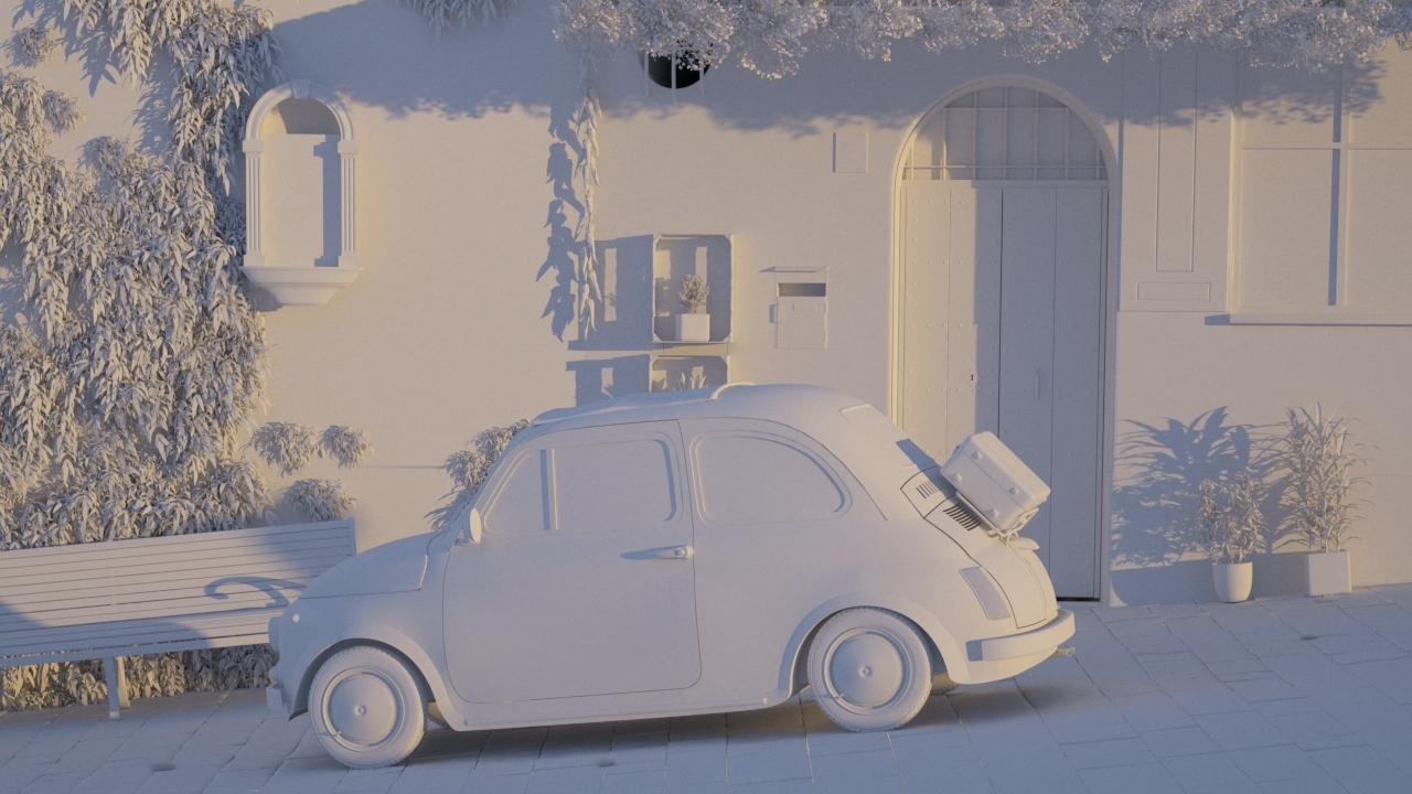 Car Render Challenge 2019 - 60-70's Italy