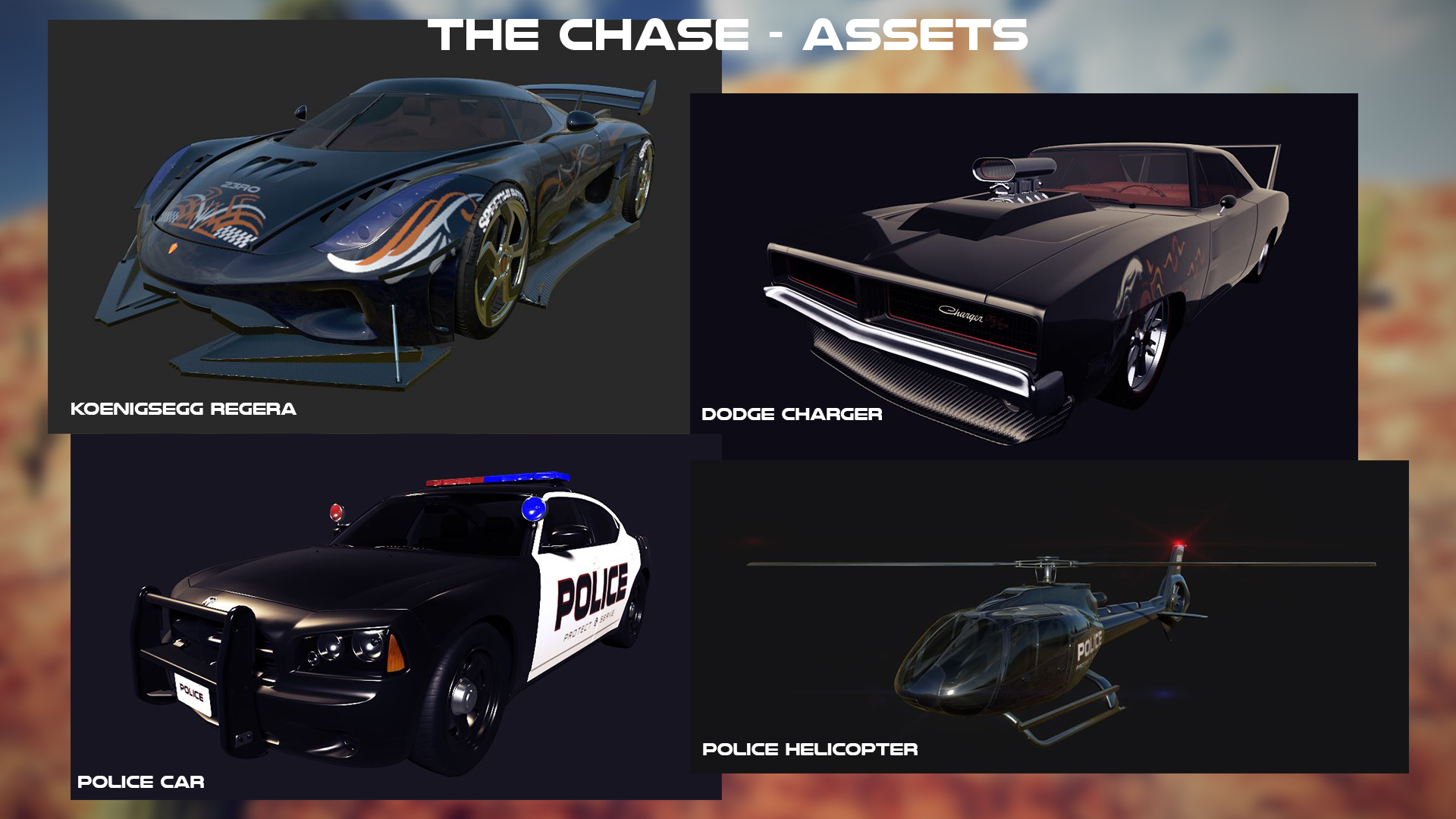 The Chase - Hum3d Car Render Challange 2019