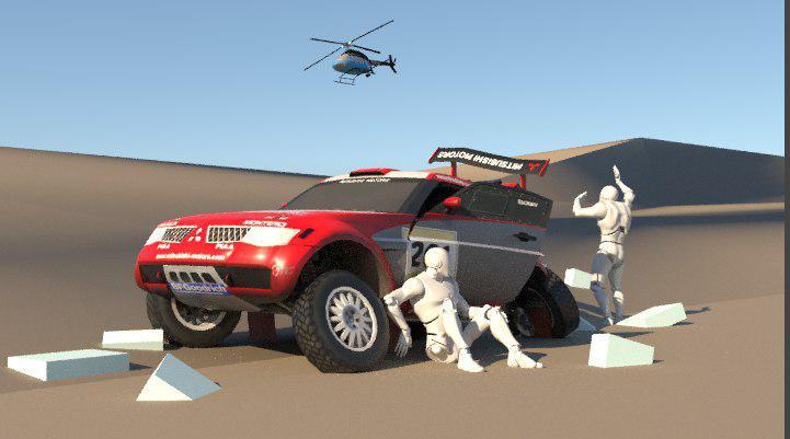 3D Car Render Challenge 2019: DAKAR