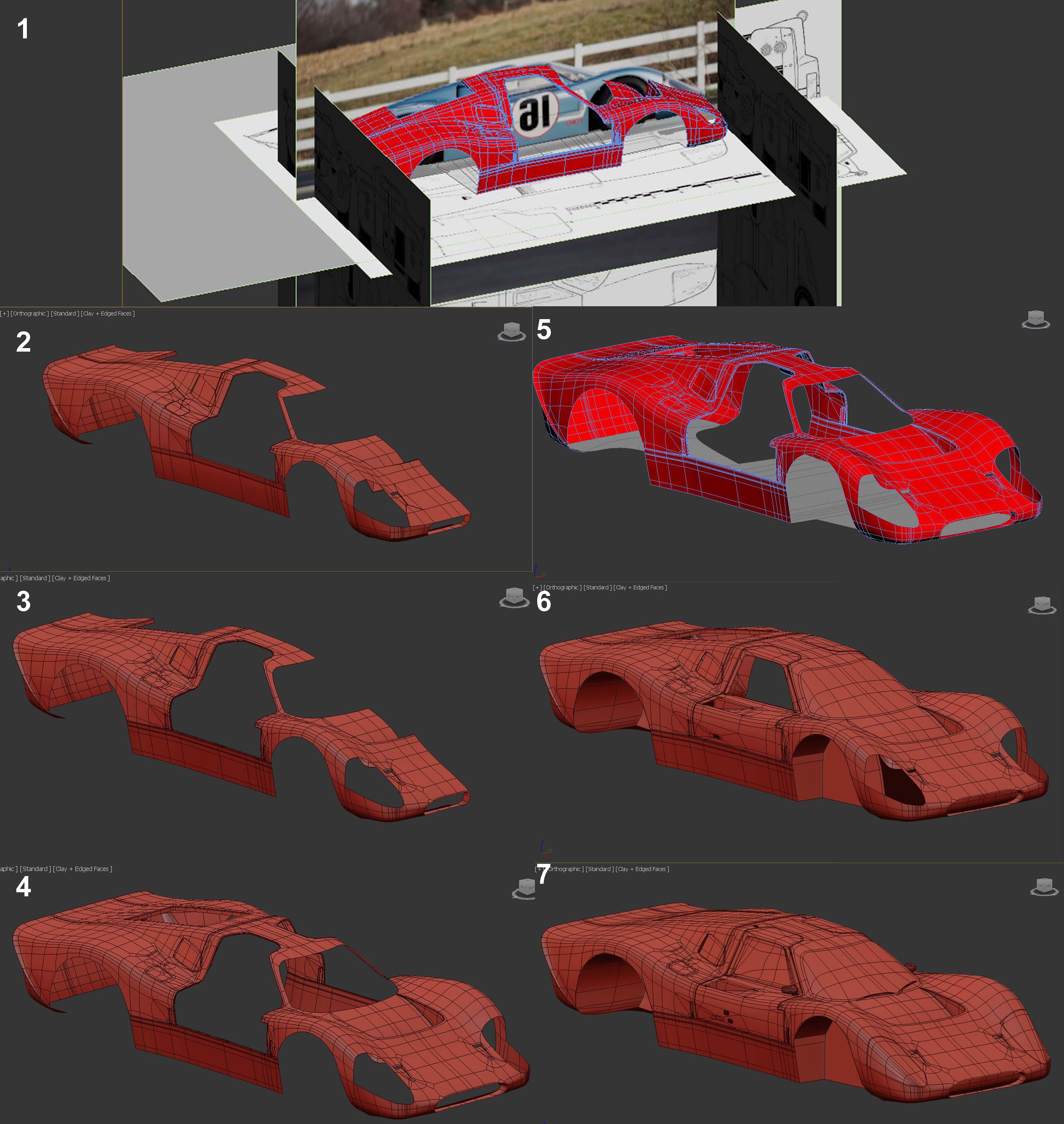 Hum3D car render challenge:FORD MK IV