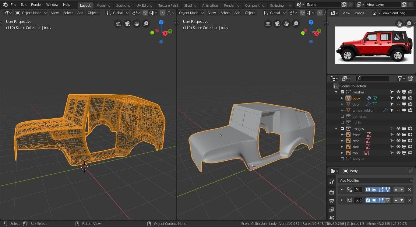 HUM3d car render challenge 2019