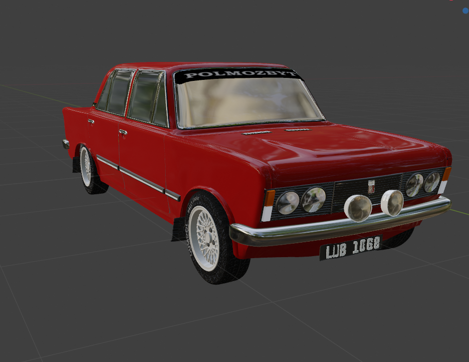 Car Render Challenge 2019 - Polish Fiat 125p (Monte Carlo) Rally version
