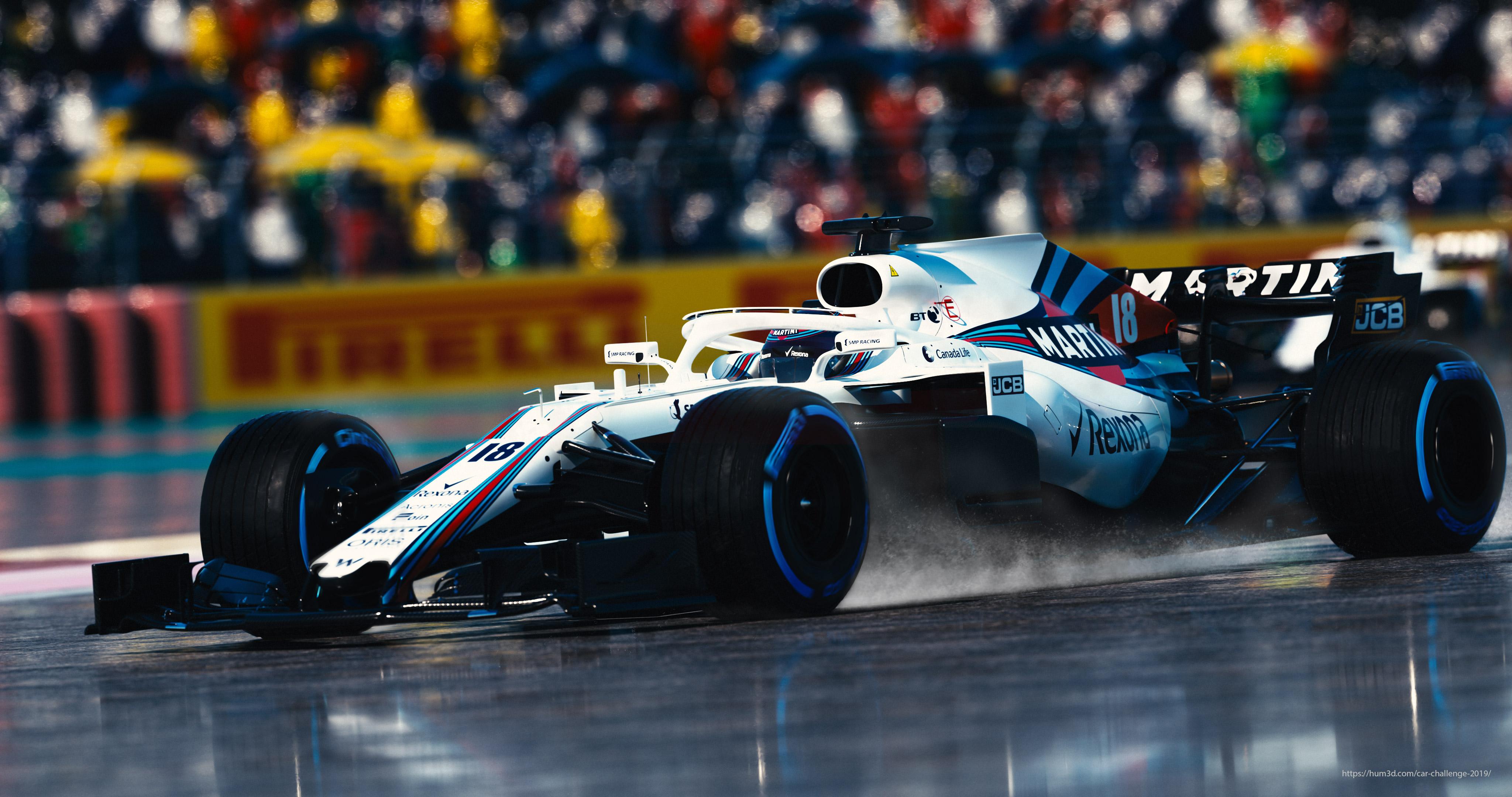 Williams FW41 car render challenge 2019
