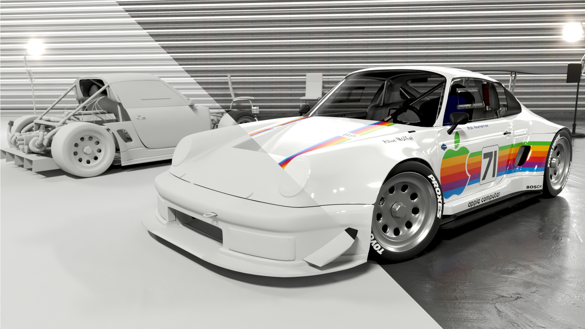 Car Render Challenge 2019 Apple Computer porsche facility