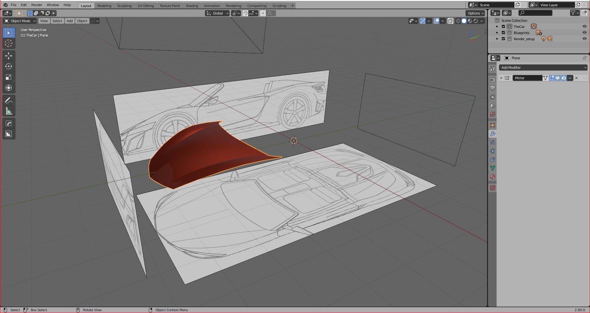 Acura NSX - Car render challenge 2020