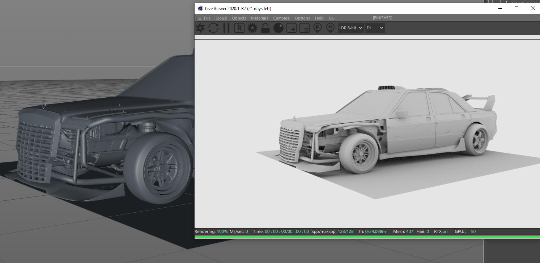 Mercedes 190- E - Car render challenge