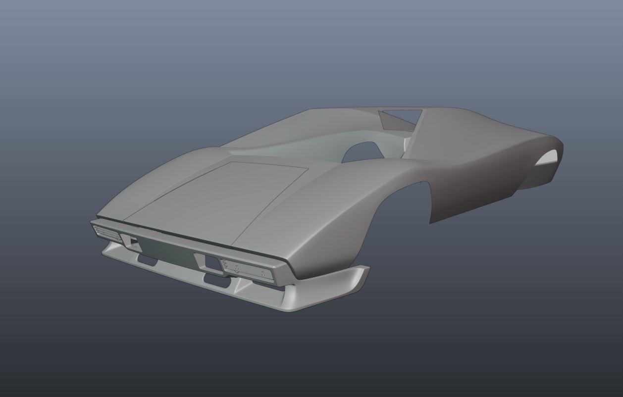 Lamborghini Countach 5000 QV - Car Render Challenge 2020