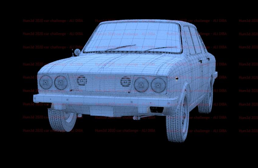 Hilman Hunter - Car render challenge 2020