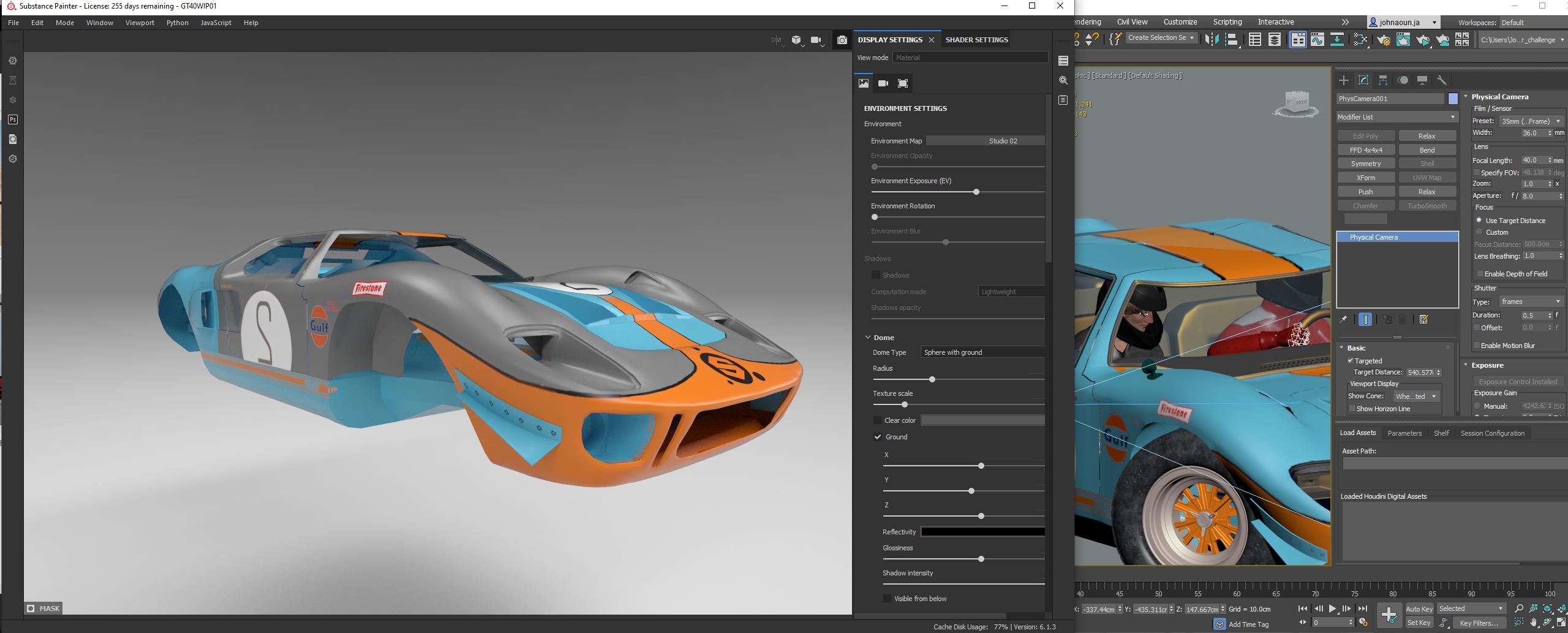 Here we go; Lada 2106 Vs. GT40! - Car Render Challenge 2020-
