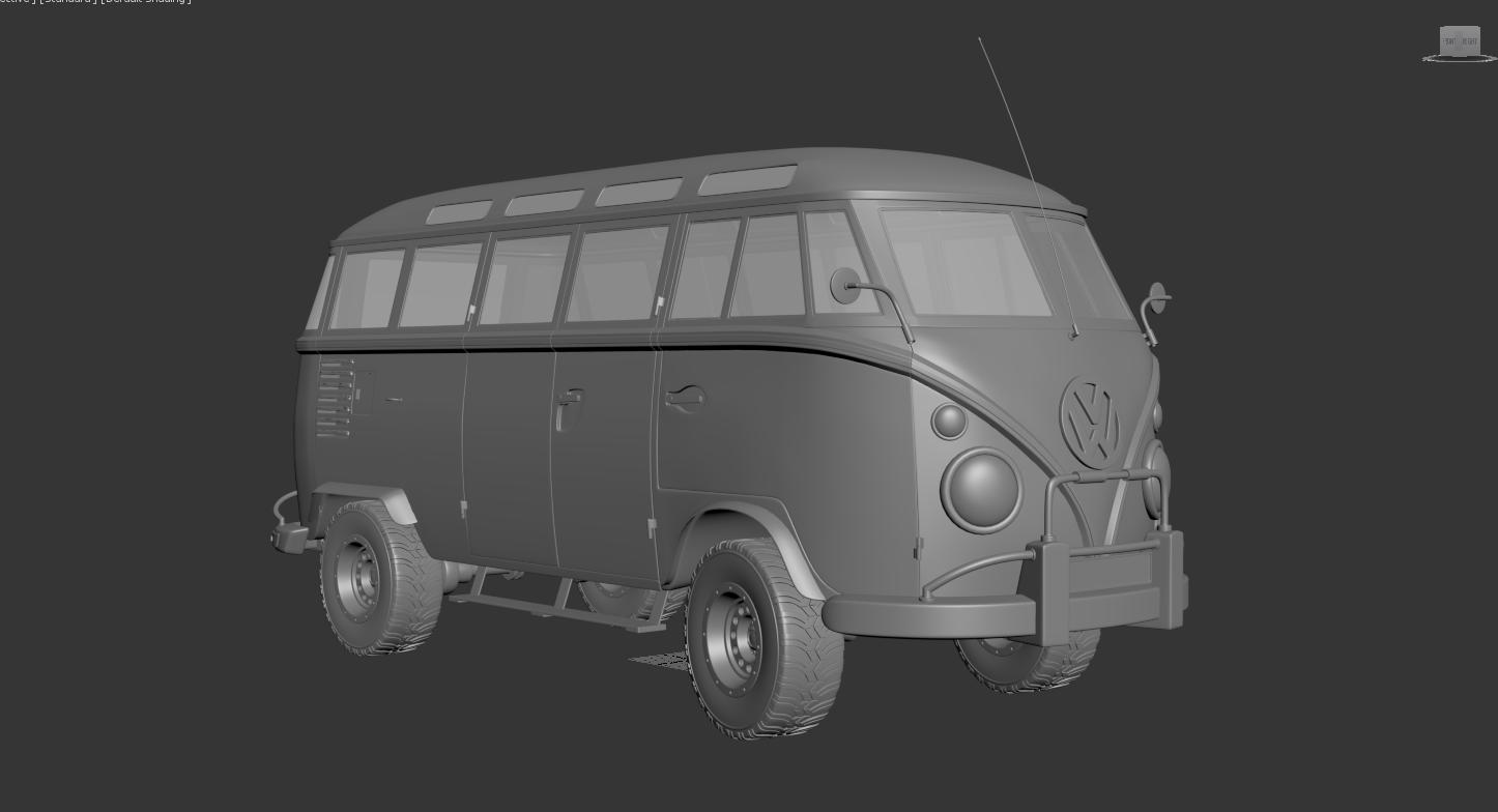 Car Render Challenge 2020-Volkswagen T1