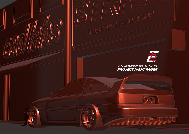PROJECT NIGHT PAGER - Car Render Challenge 2020