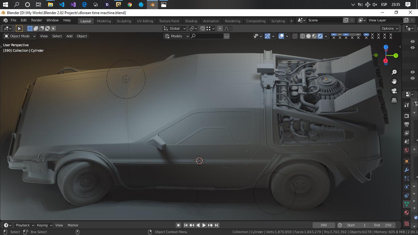 Car Render Challenge 2020 - DeLorean, Back To The Future