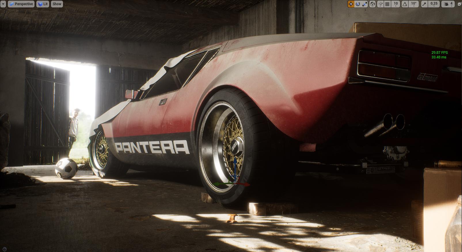 Sleepless Nights - De Tomaso Pantera - Car Render Challenge 2020