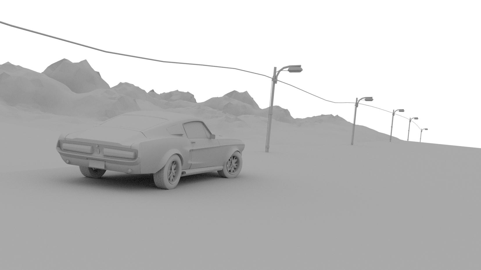Shelby Mustang 1967 Eleanor - Car Render Challenge 2020