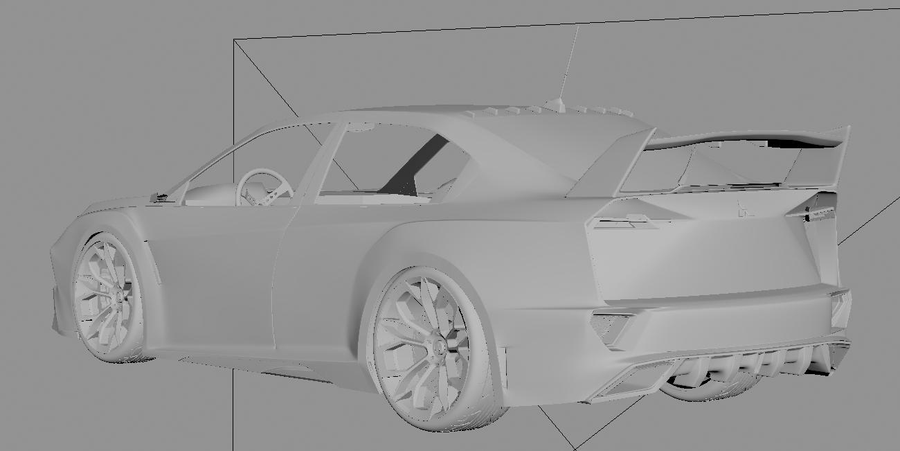 Lancer EVO Concept-Car Render Challenge 2020